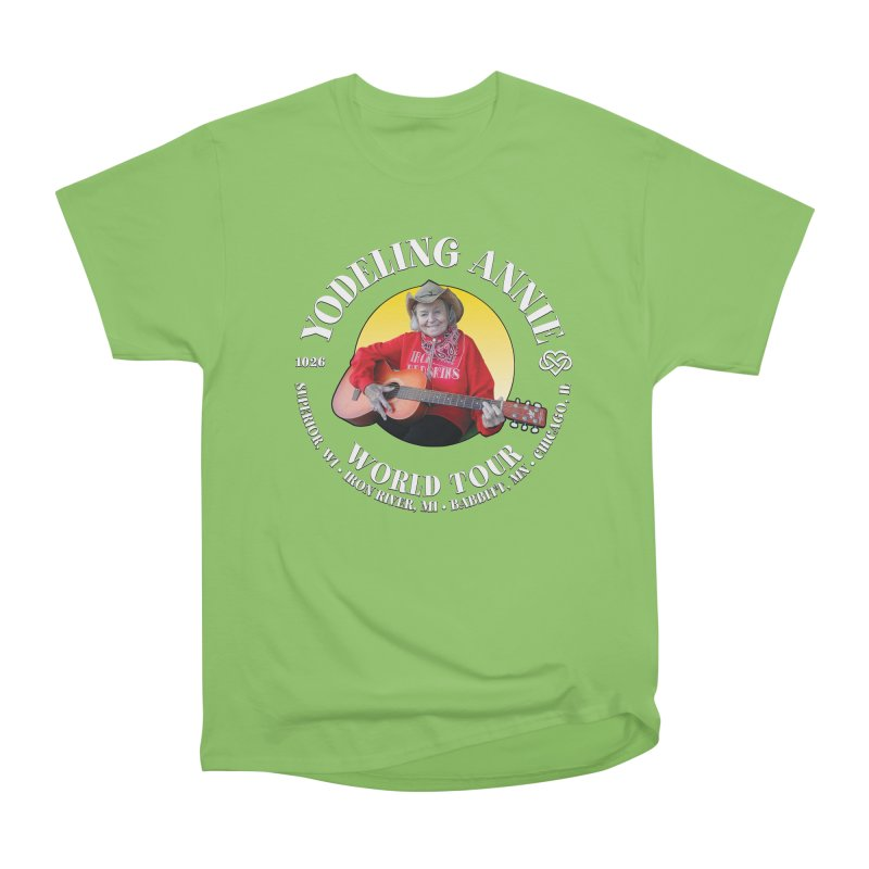 Yodeling Annie World Tour Women's Heavyweight Unisex T-Shirt by Brian Harms