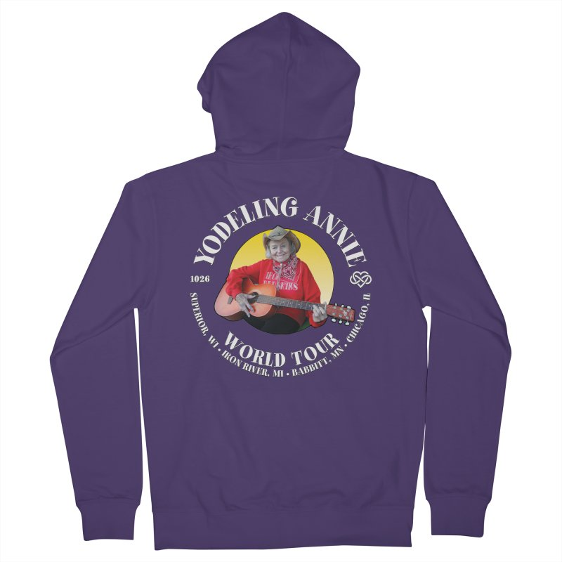 Yodeling Annie World Tour Women's French Terry Zip-Up Hoody by Brian Harms
