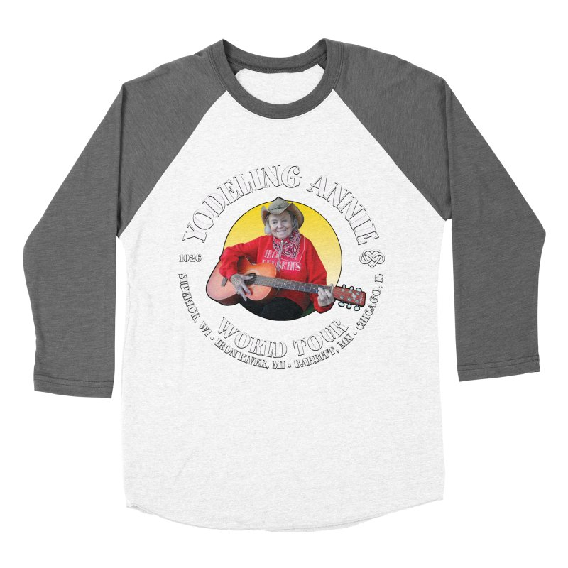 Yodeling Annie World Tour Women's Baseball Triblend Longsleeve T-Shirt by Brian Harms