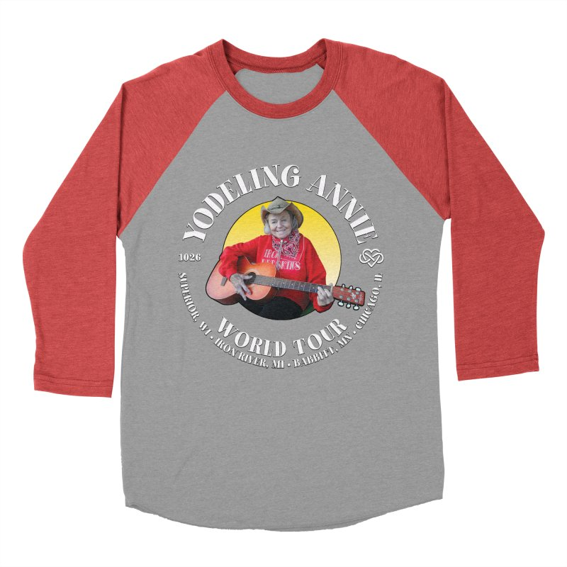 Yodeling Annie World Tour Men's Baseball Triblend Longsleeve T-Shirt by Brian Harms