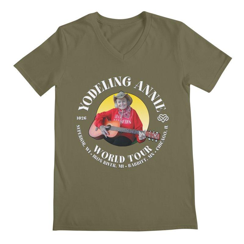 Yodeling Annie World Tour Men's Regular V-Neck by Brian Harms