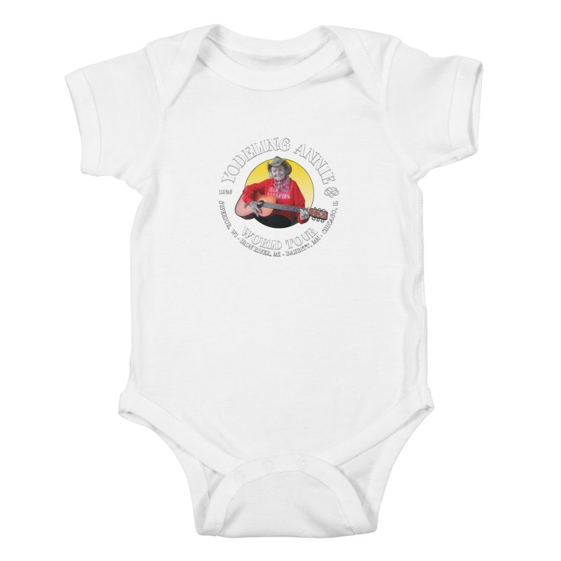 Yodeling Annie World Tour Kids Baby Bodysuit by Brian Harms