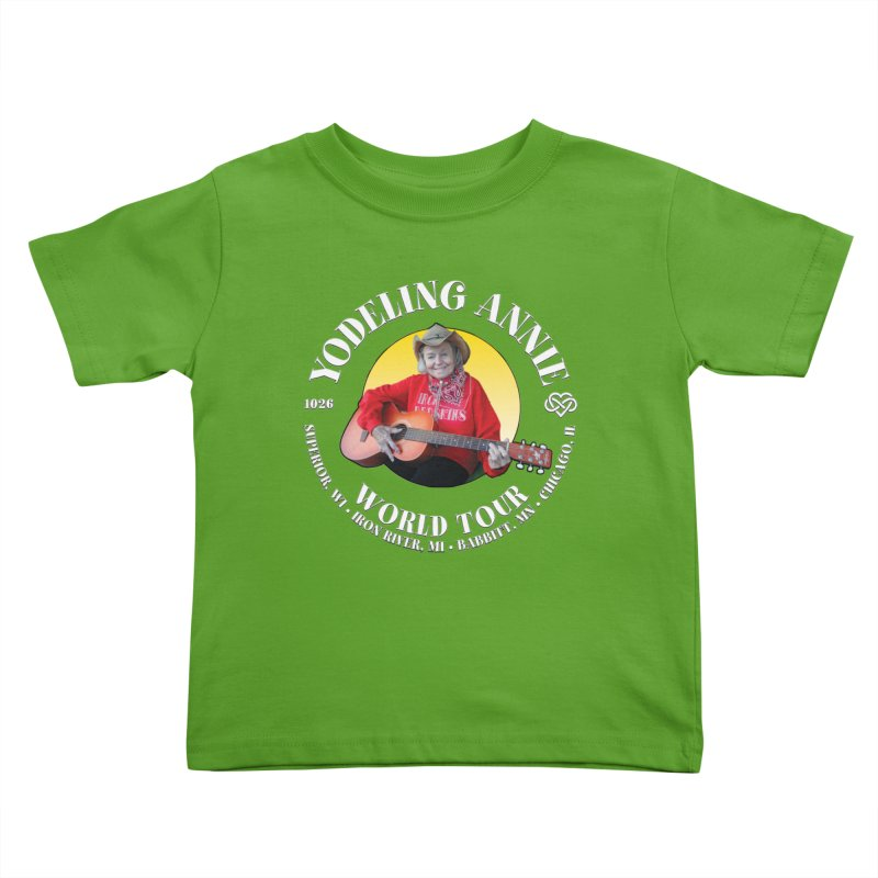 Yodeling Annie World Tour Kids Toddler T-Shirt by Brian Harms