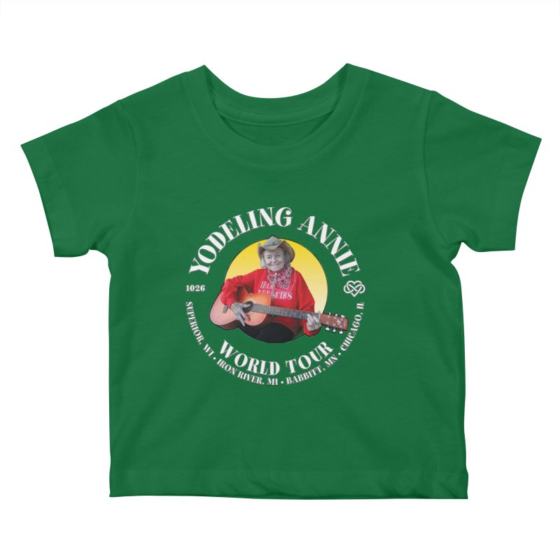 Yodeling Annie World Tour Kids Baby T-Shirt by Brian Harms