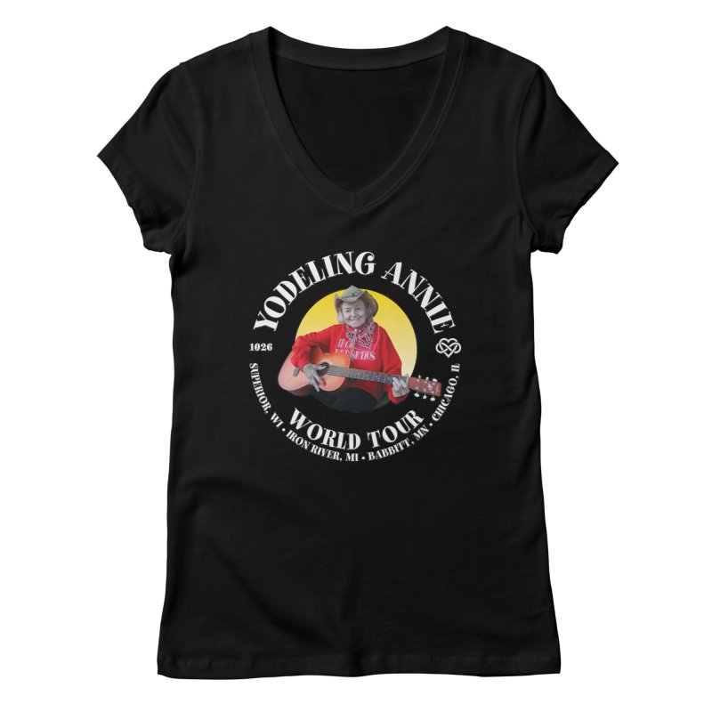 Yodeling Annie World Tour Women's V-Neck by Brian Harms