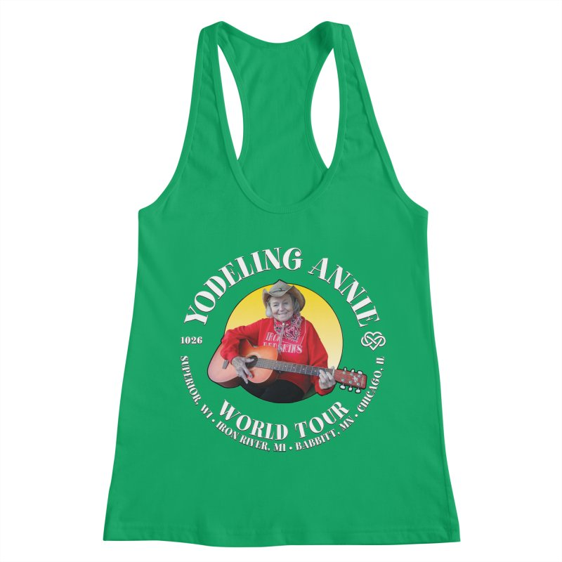 Yodeling Annie World Tour Women's Racerback Tank by Brian Harms