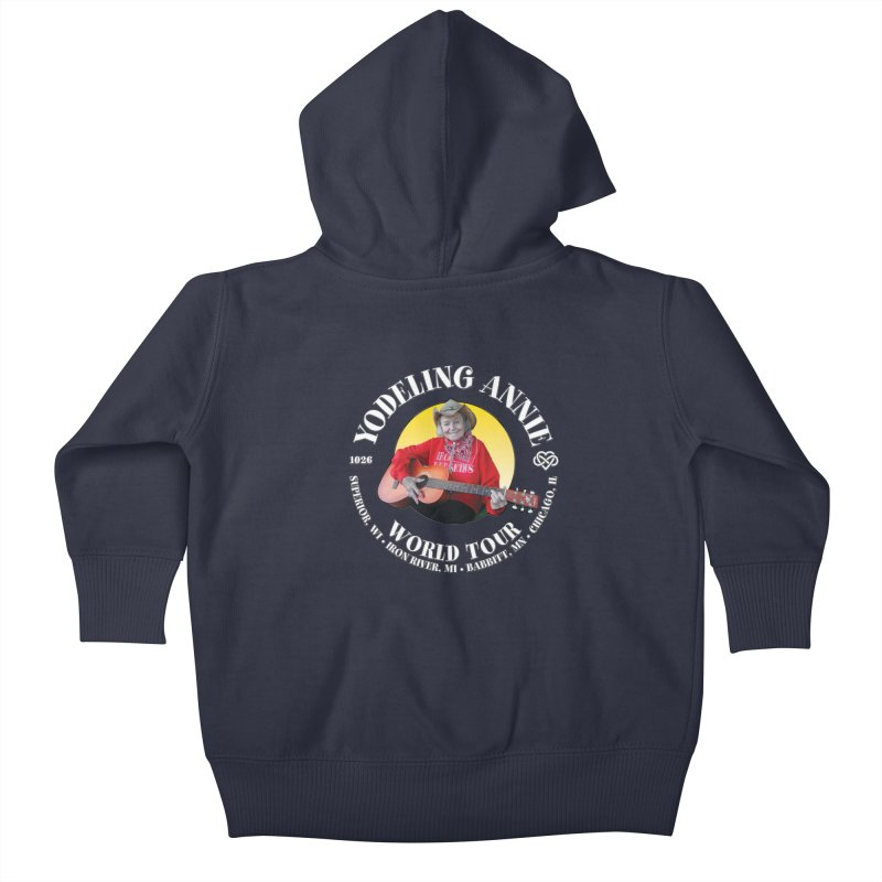 Yodeling Annie World Tour Kids Baby Zip-Up Hoody by Brian Harms