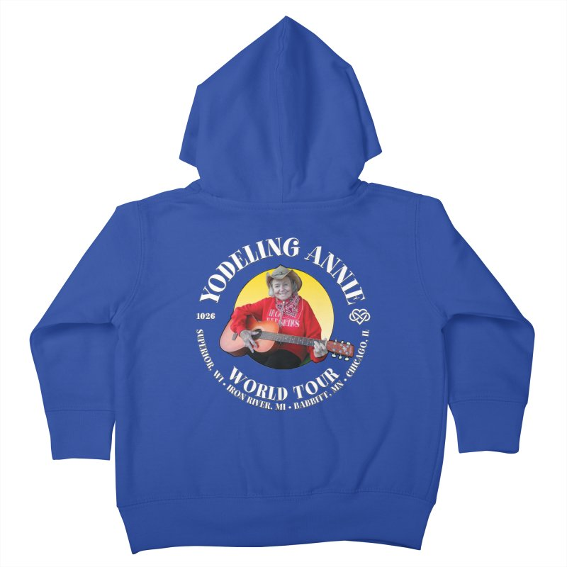 Yodeling Annie World Tour Kids Toddler Zip-Up Hoody by Brian Harms