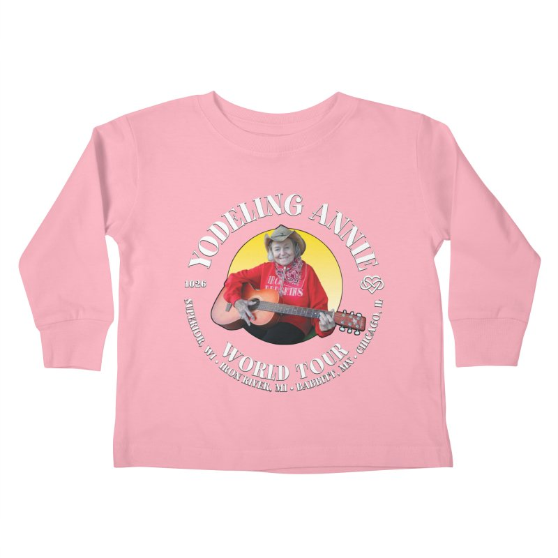 Yodeling Annie World Tour Kids Toddler Longsleeve T-Shirt by Brian Harms