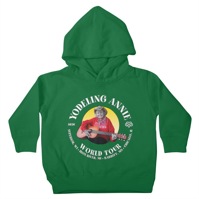 Yodeling Annie World Tour Kids Toddler Pullover Hoody by Brian Harms