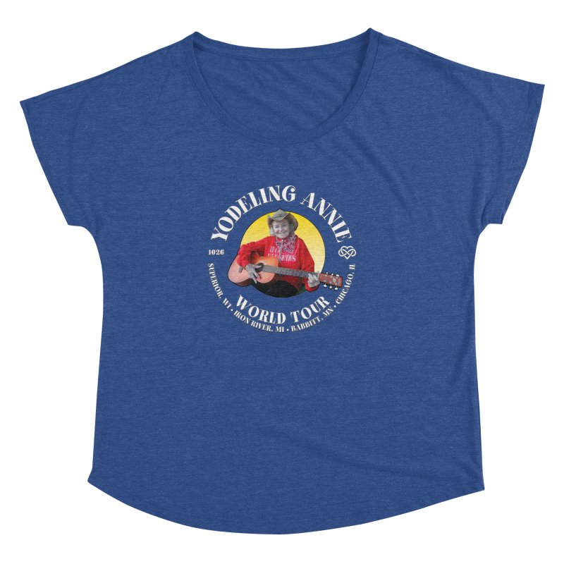 Yodeling Annie World Tour Women's Dolman Scoop Neck by Brian Harms