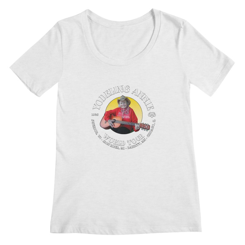Yodeling Annie World Tour Women's Regular Scoop Neck by Brian Harms