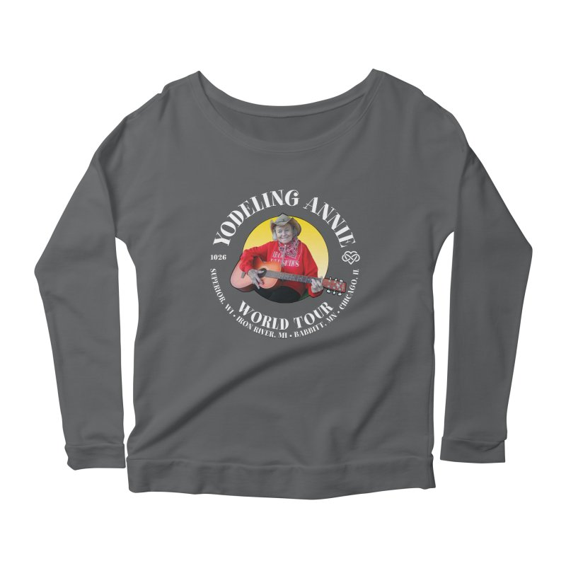 Yodeling Annie World Tour Women's Scoop Neck Longsleeve T-Shirt by Brian Harms