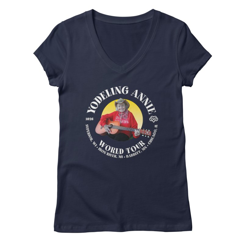 Yodeling Annie World Tour Women's Regular V-Neck by Brian Harms