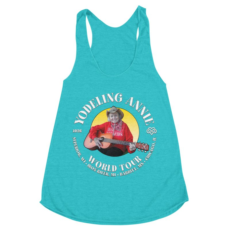Yodeling Annie World Tour Women's Racerback Triblend Tank by Brian Harms