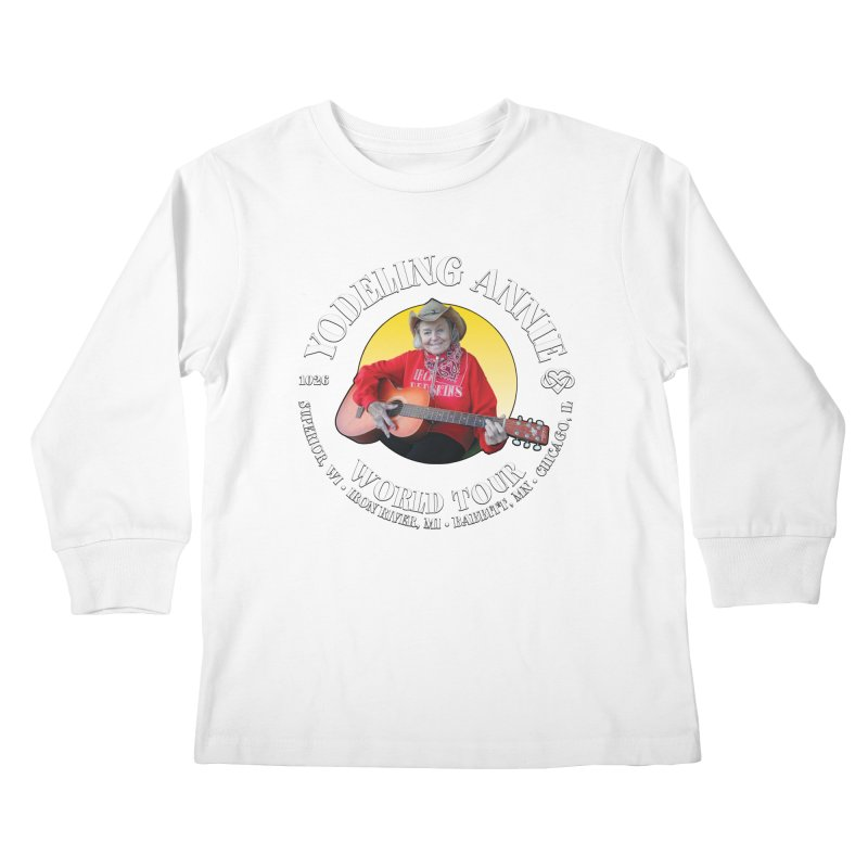 Yodeling Annie World Tour Kids Longsleeve T-Shirt by Brian Harms