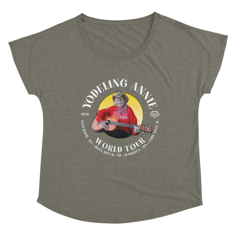 Yodeling Annie World Tour Women's Scoop Neck by Brian Harms
