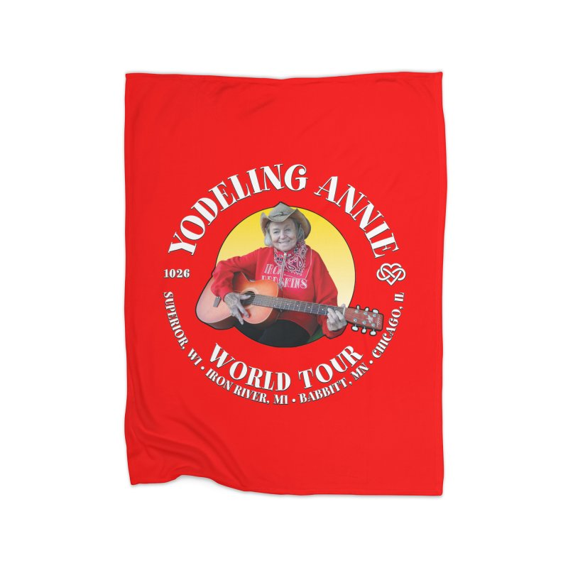 Yodeling Annie World Tour Home Fleece Blanket Blanket by Brian Harms