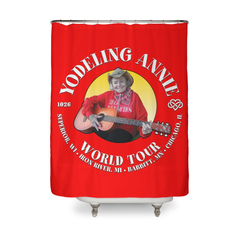 Yodeling Annie World Tour Home Shower Curtain by Brian Harms