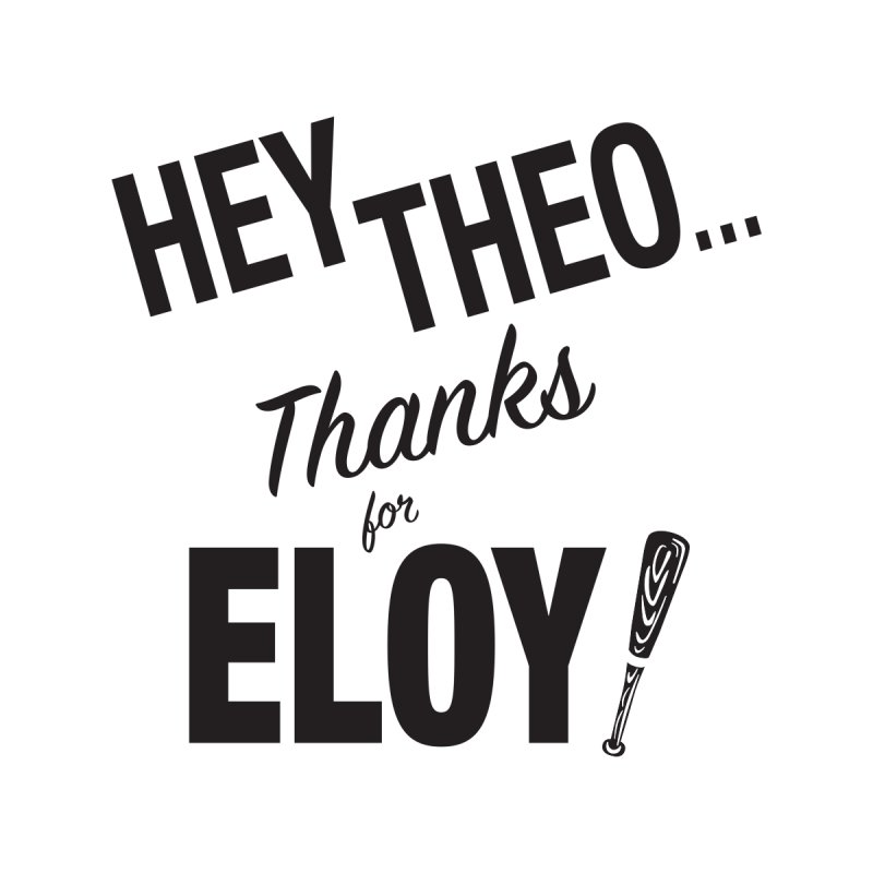 Thanks for Eloy 02 • Men's • black logo Men's T-Shirt by Brian Harms