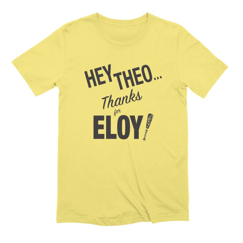 Thanks for Eloy 02 • Men's • black logo Men's T-Shirt by Brian Harms