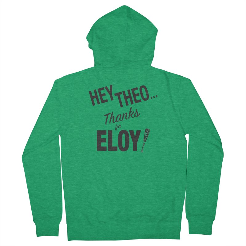 Thanks for Eloy 02 • Men's • black logo Men's Zip-Up Hoody by Brian Harms