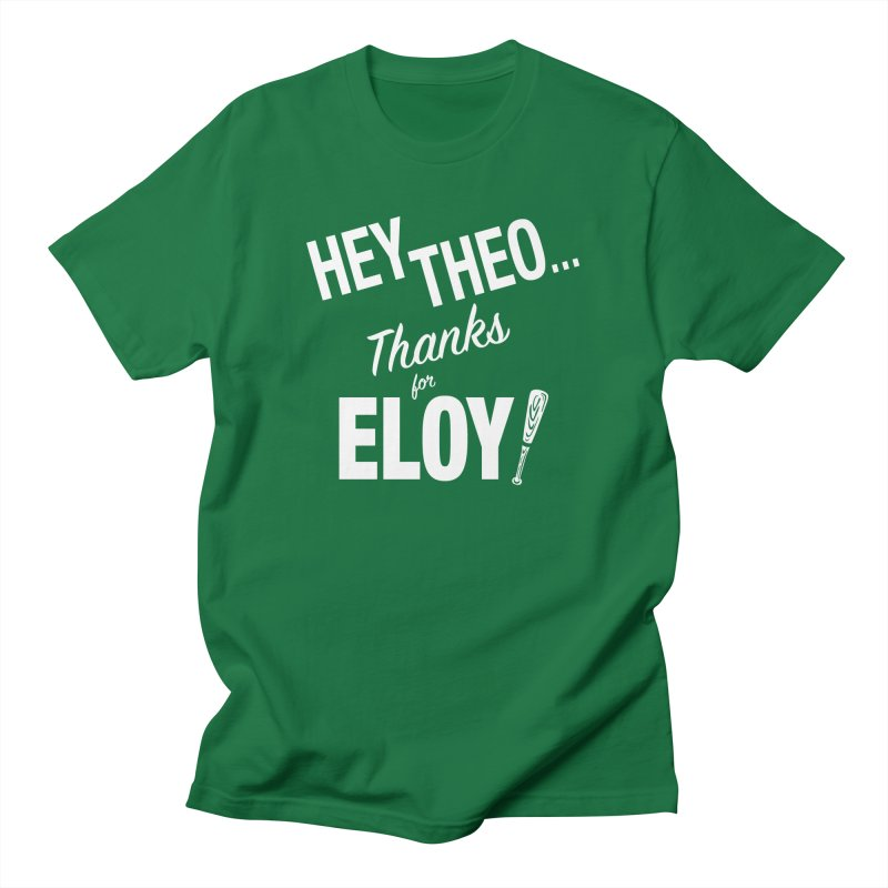 Thanks for Eloy! 02 • Men's • white logo Men's T-Shirt by Brian Harms