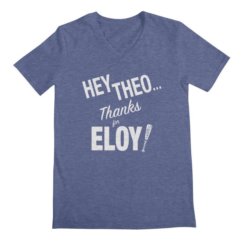 Thanks for Eloy! 02 • Men's • white logo Men's V-Neck by Brian Harms