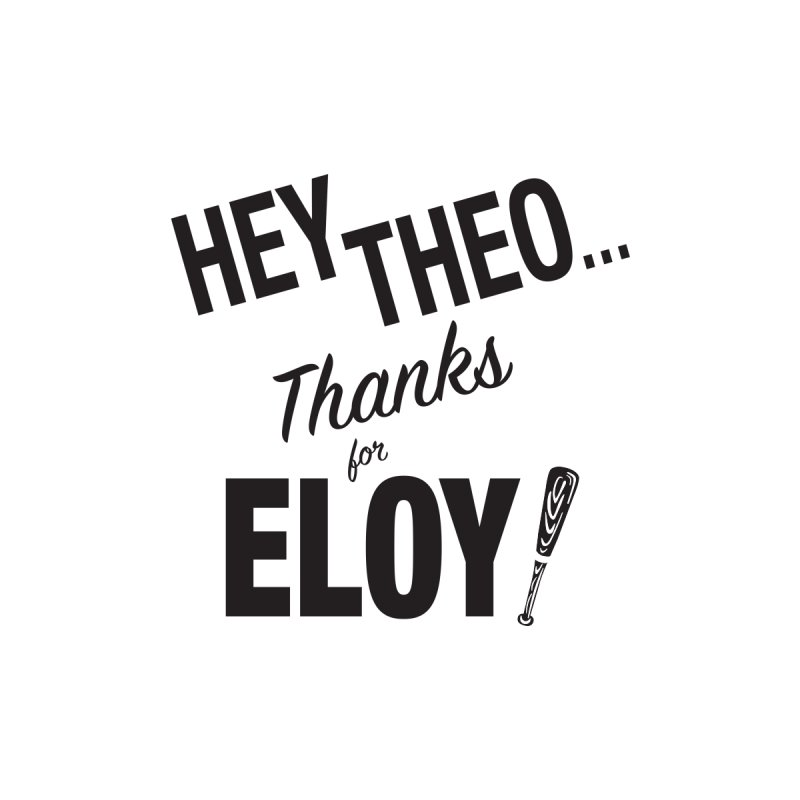 Thanks for Eloy! 02 • Women's • black logo Women's T-Shirt by Brian Harms