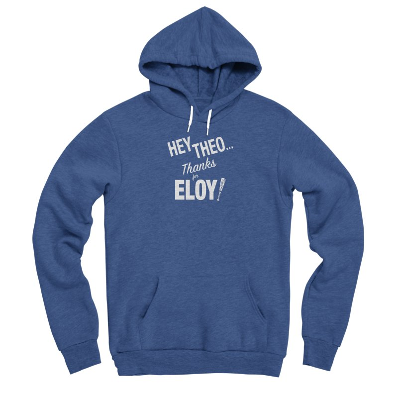 Thanks for Eloy! 02 • Women's • white logo Women's Pullover Hoody by Brian Harms