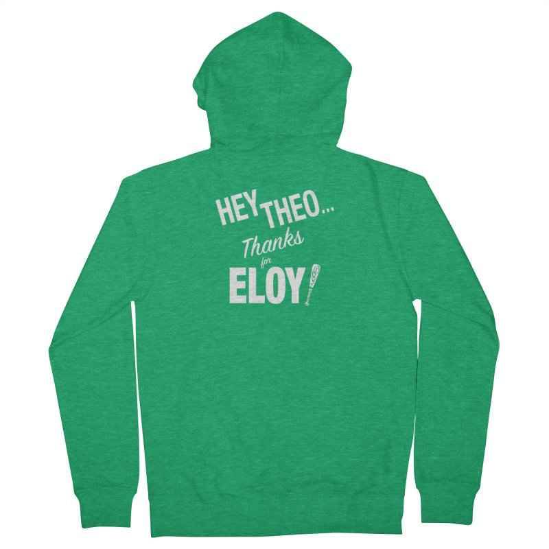 Thanks for Eloy! 02 • Women's • white logo Women's Zip-Up Hoody by Brian Harms