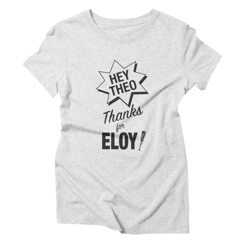 Thanks for Eloy! 03 • Men's • black logo Women's T-Shirt by Brian Harms