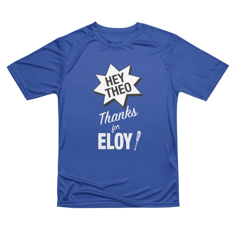 Thanks for Eloy! 03 • Men's • white logo Men's T-Shirt by Brian Harms
