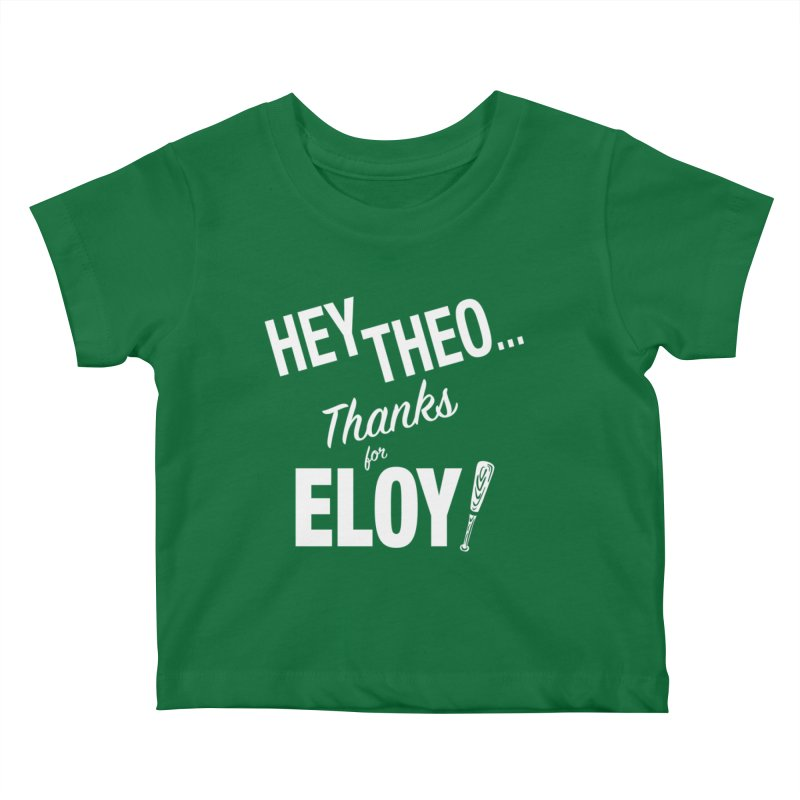Thanks for Eloy! 02 • Kid's • white logo Kids Baby T-Shirt by Brian Harms