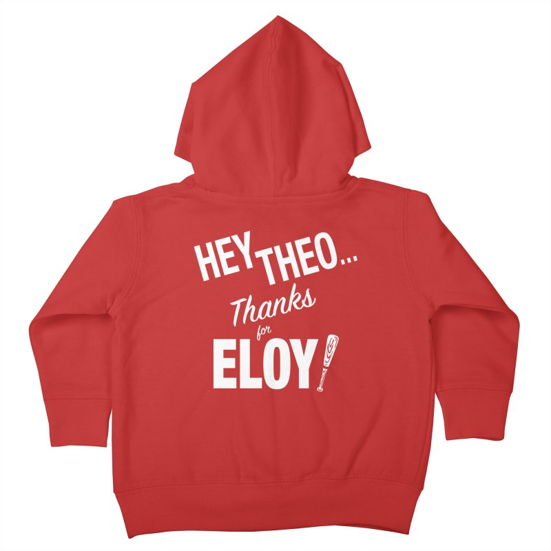 Thanks for Eloy! 02 • Kid's • white logo Kids Toddler Zip-Up Hoody by Brian Harms