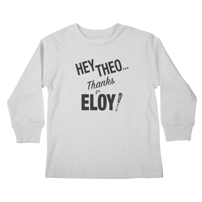 Thanks for Eloy! 02 • Kid's • black logo Kids Longsleeve T-Shirt by Brian Harms
