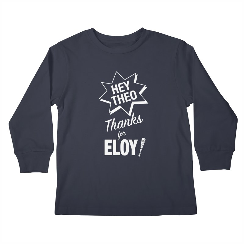 Thanks for Eloy! 03 • Kid's • white logo Kids Longsleeve T-Shirt by Brian Harms
