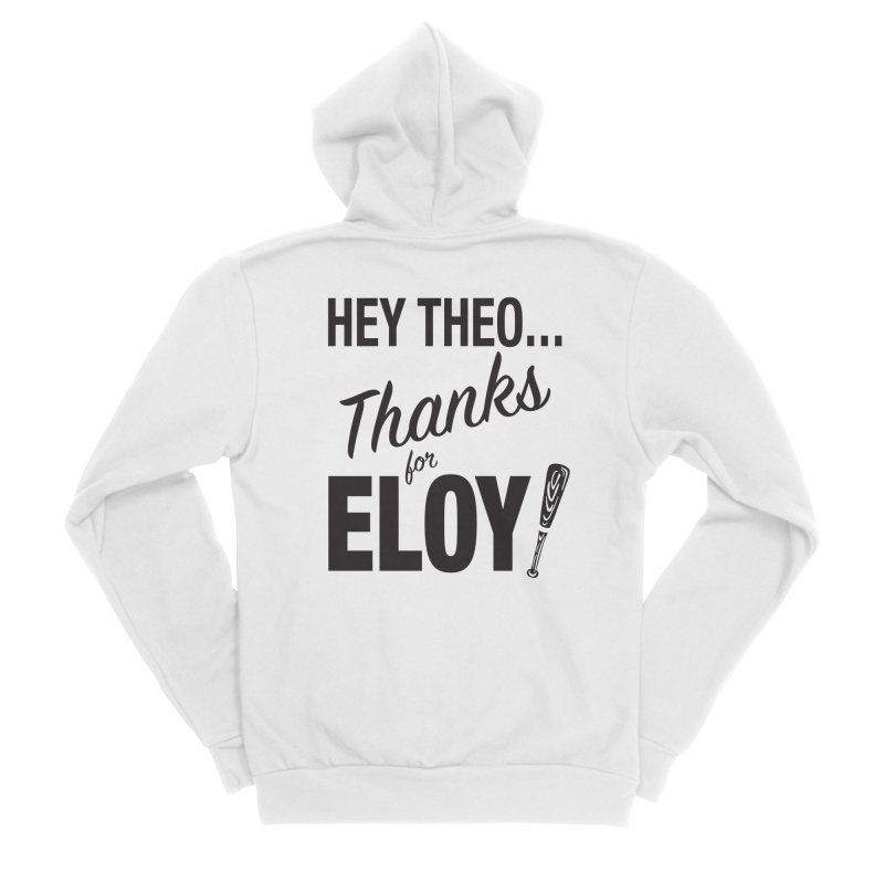 Thanks for Eloy! 01 • Men's • black logo Men's Zip-Up Hoody by Brian Harms