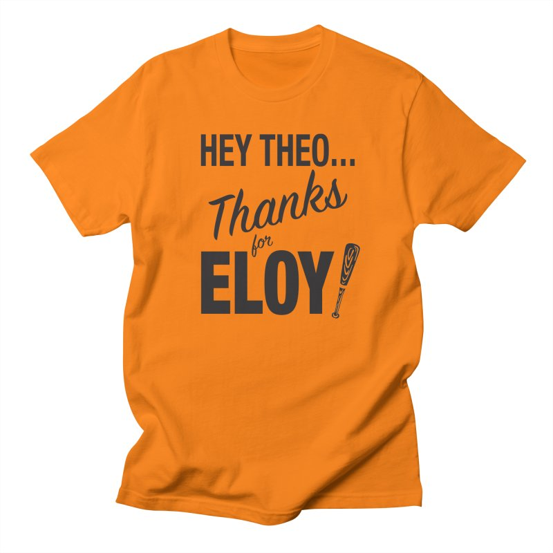 Thanks for Eloy! 01 • Men's • black logo Men's T-Shirt by Brian Harms