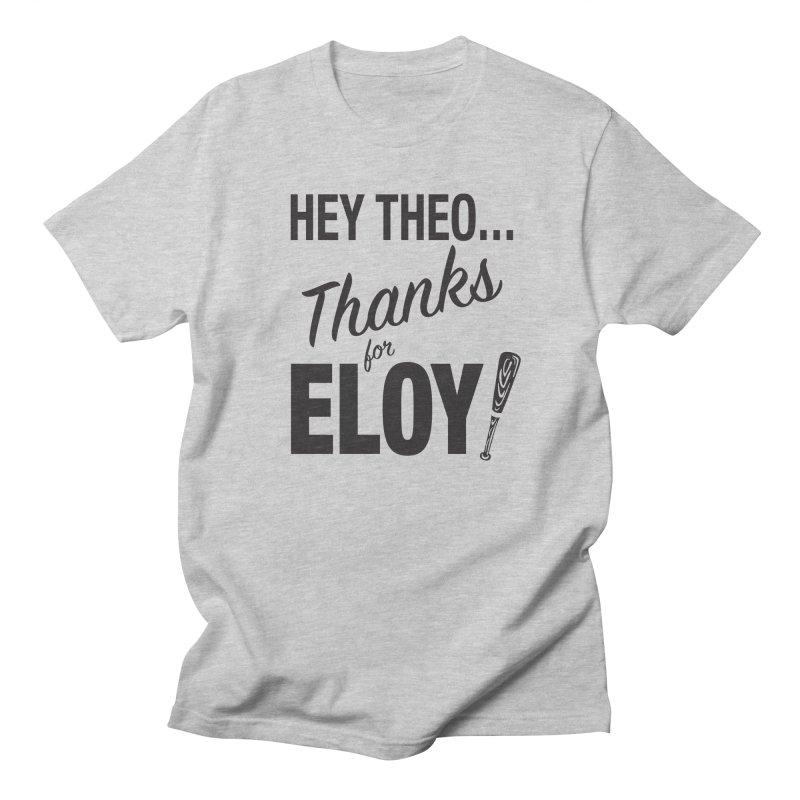 Thanks for Eloy! 01 • Men's • black logo Men's T-Shirt by Brian Harms