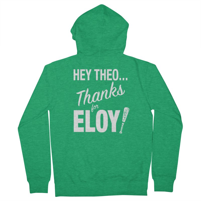 Thanks for Eloy! 01 • Men's • white logo Men's Zip-Up Hoody by Brian Harms