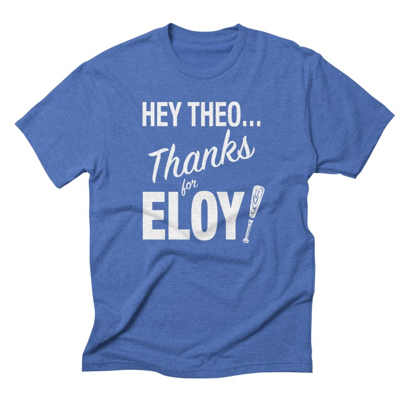 Thanks for Eloy! 01 • Men's • white logo Men's T-Shirt by Brian Harms