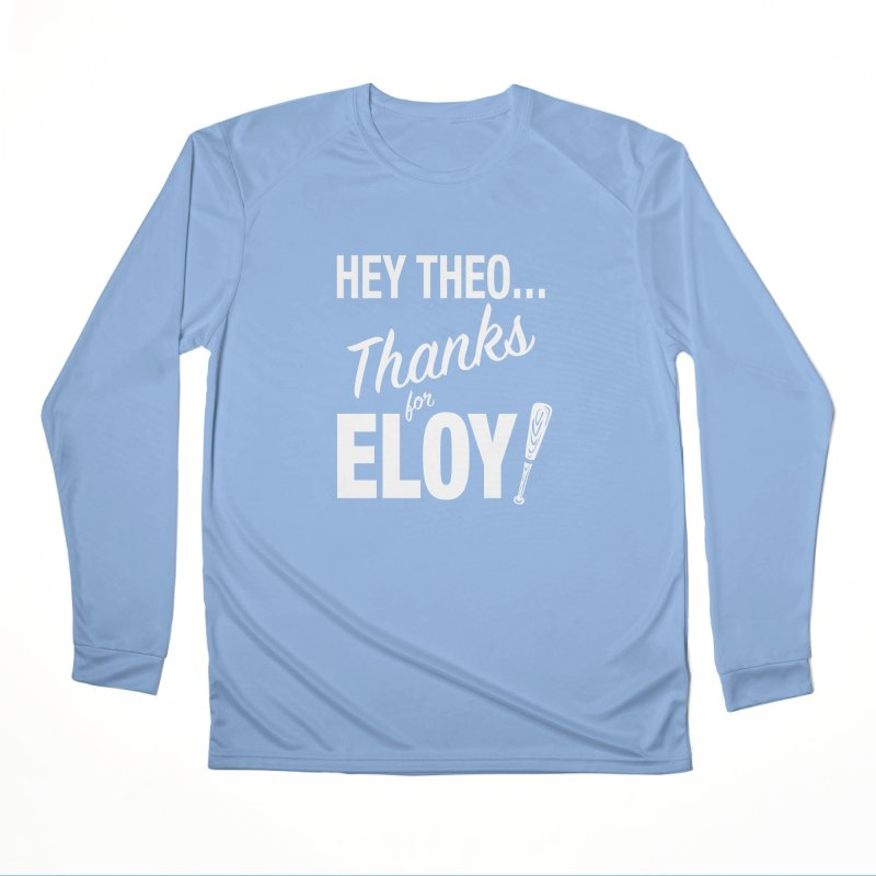 Thanks for Eloy! 01 • Women's • white logo Women's Longsleeve T-Shirt by Brian Harms
