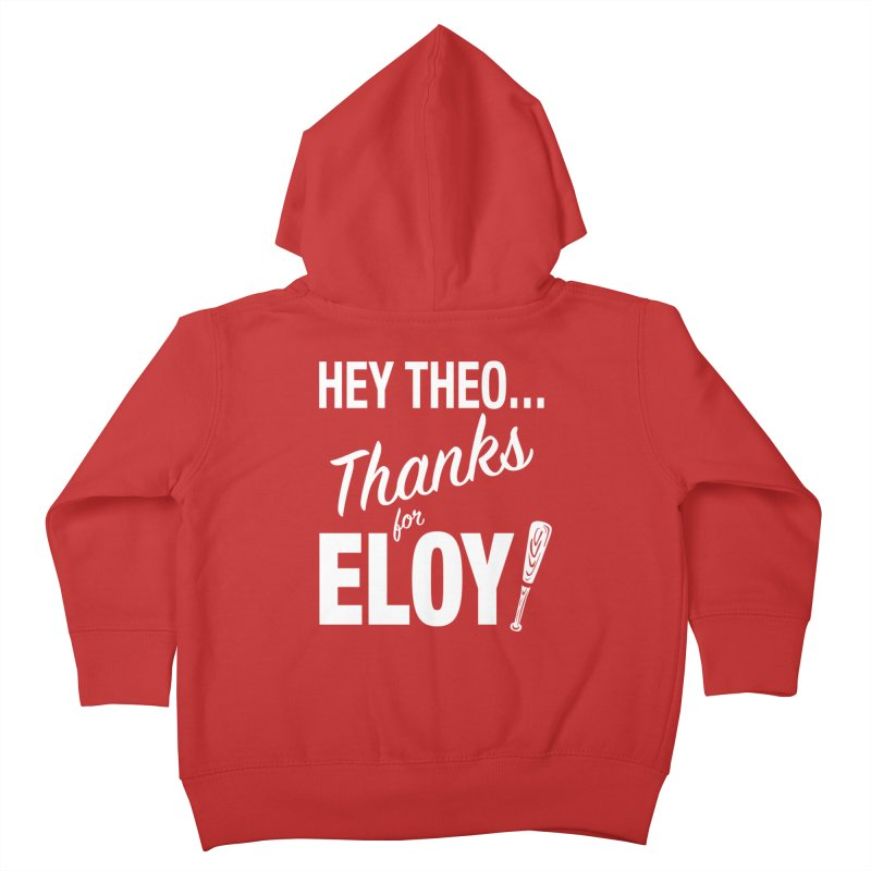 Thanks for Eloy! 01 • Kid's • white logo Kids Toddler Zip-Up Hoody by Brian Harms