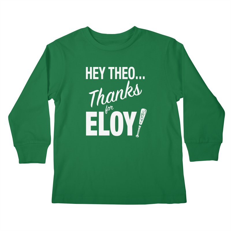 Thanks for Eloy! 01 • Kid's • white logo Kids Longsleeve T-Shirt by Brian Harms