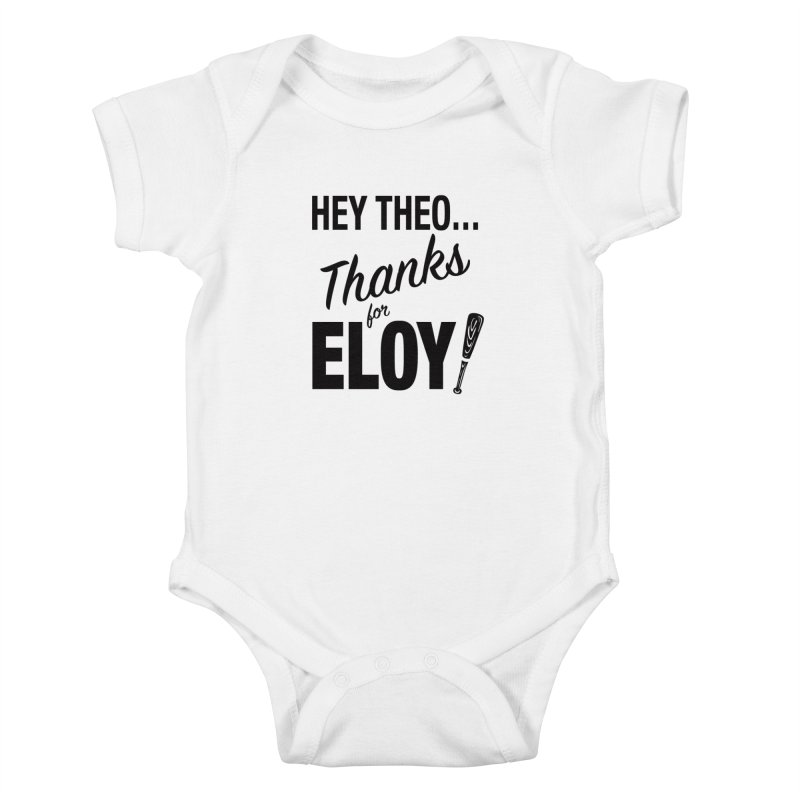 Thanks for Eloy! 01 • Kid's • black logo Kids Baby Bodysuit by Brian Harms