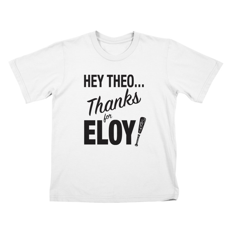 Thanks for Eloy! 01 • Kid's • black logo Kids T-Shirt by Brian Harms