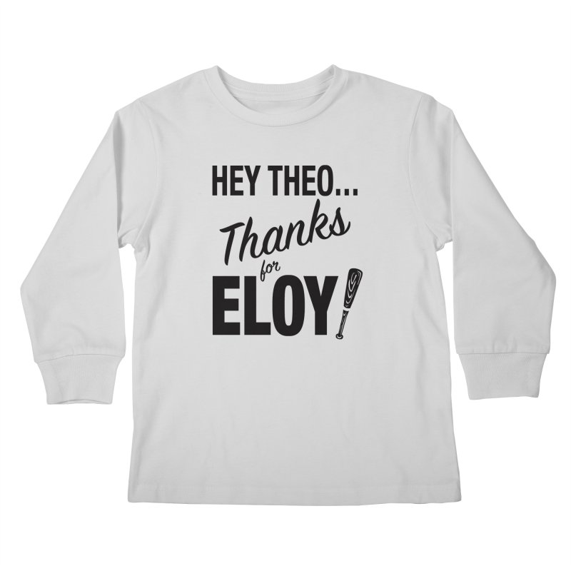 Thanks for Eloy! 01 • Kid's • black logo Kids Longsleeve T-Shirt by Brian Harms