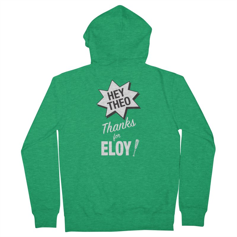 Thanks for Eloy! 03 • Women's • white logo Women's Zip-Up Hoody by Brian Harms