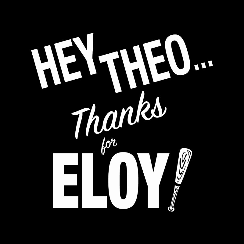 Thanks for Eloy! 02 • Women's • Baseball White Women's Longsleeve T-Shirt by Brian Harms